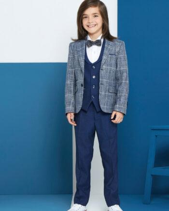 Pio Royal Check 3 Piece Boys Suit