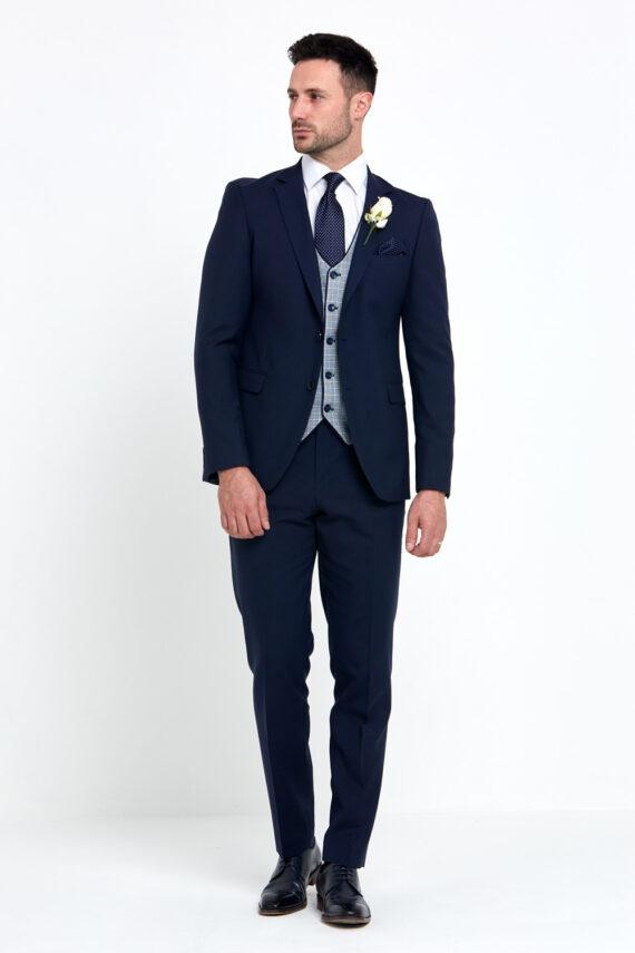 Raymond Navy 3 Piece Wedding Suit