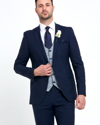 Raymond Navy 3 Piece Wedding Suit