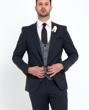Regency Grey 3 Piece Wedding Suit