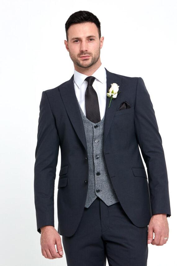 Regency Grey 3 Piece Wedding Suit