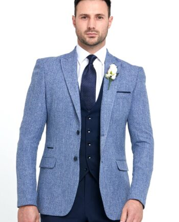 Simon Blue 3 Piece Wedding Suit