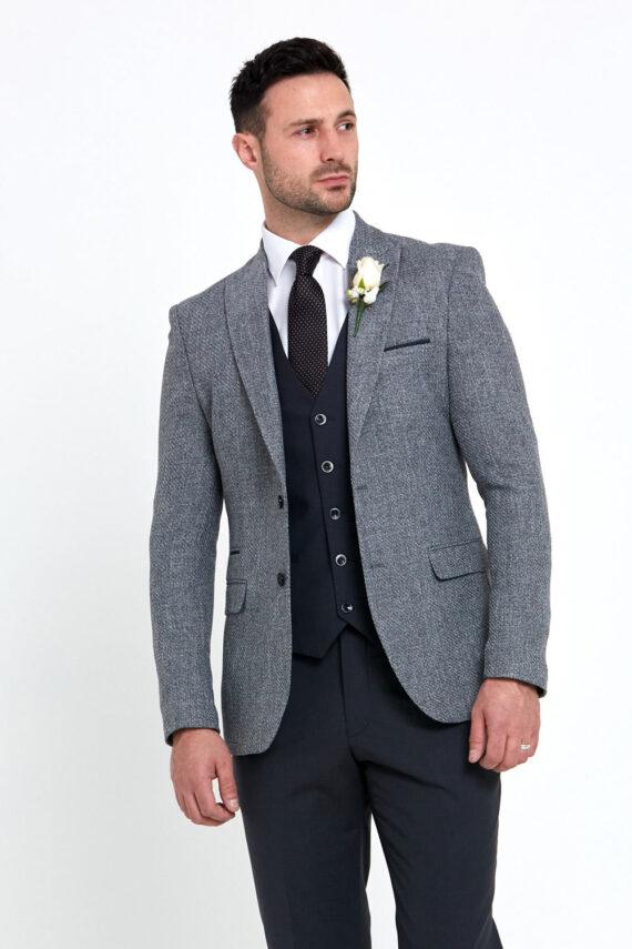 Simon Grey 3 Piece Wedding Suit