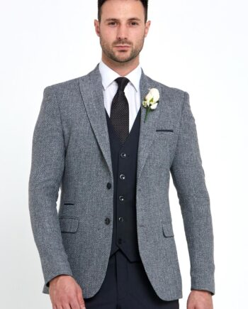Simon Grey 3 Piece Wedding Suit