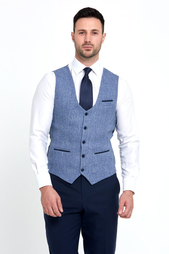 Simon Navy 3 Piece Wedding Suit