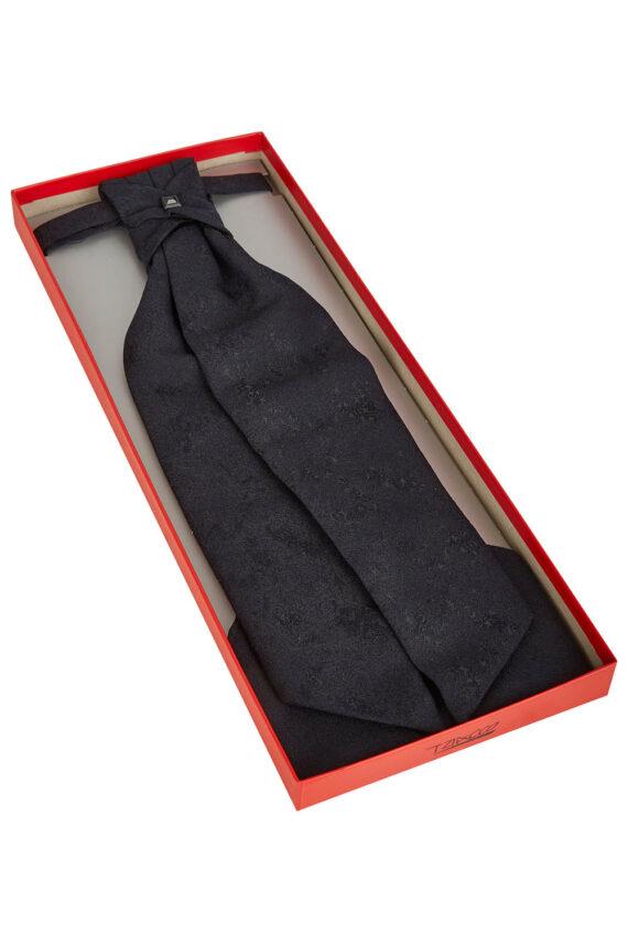 Royal Black Floral cravat