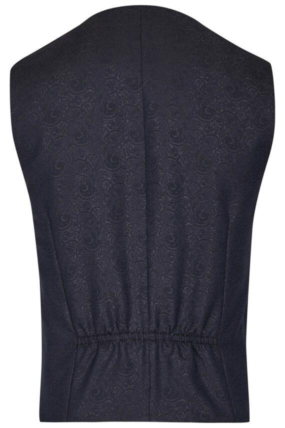 Royal Black pattern Waistcoat