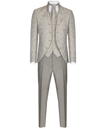 Royal Silver 3 Piece Suit