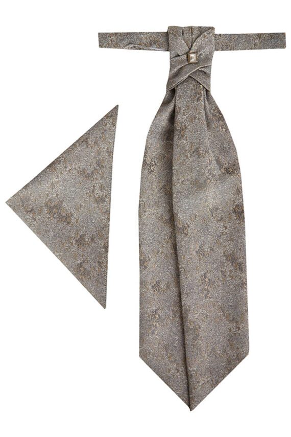 Royal Silver Gold patterned Tie