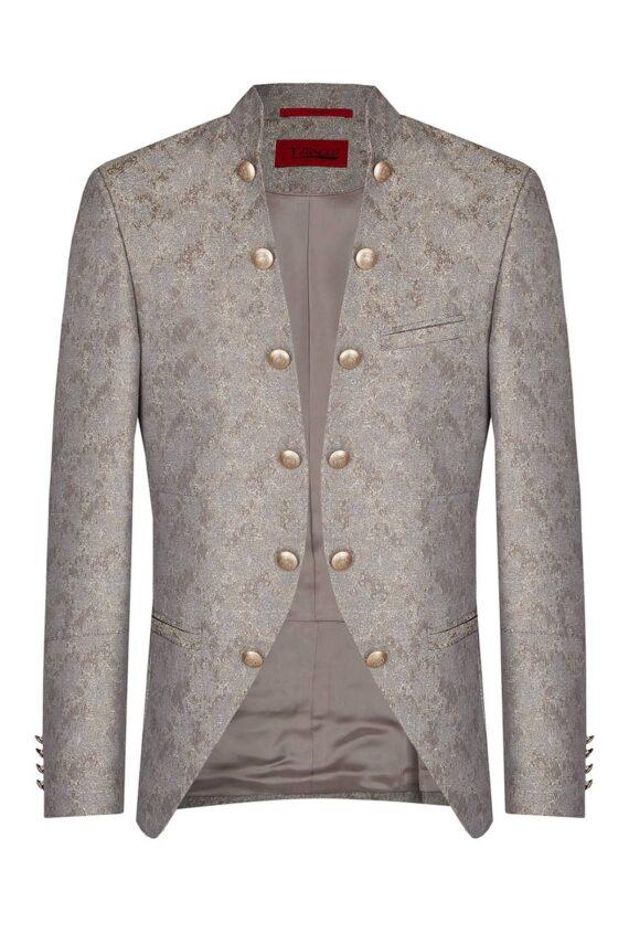 Royal Silver Gold patterned Jacket