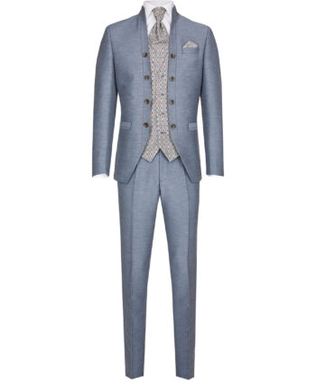 Royal Steel Blue 3 Piece Suit