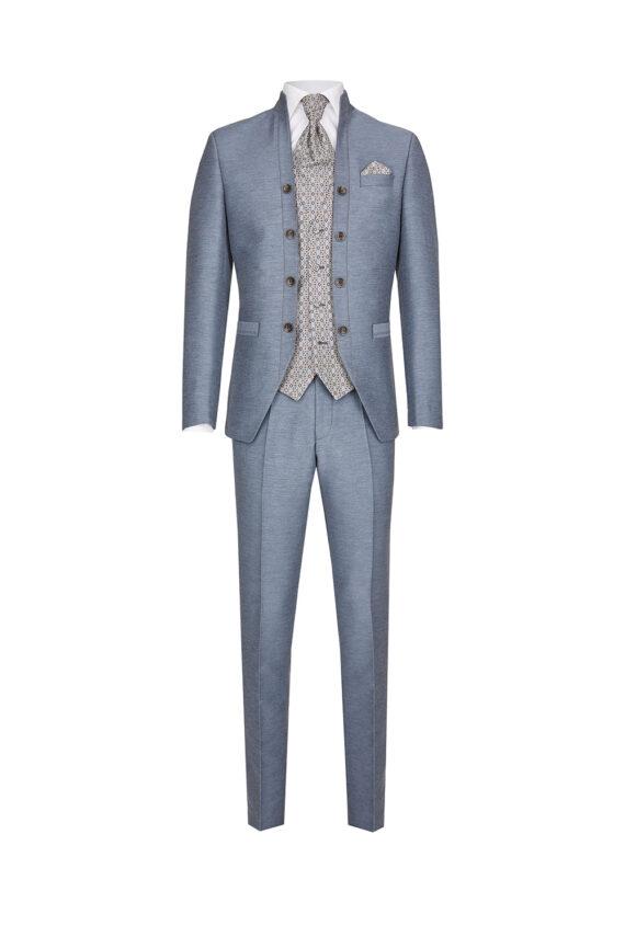 Royal Steel Blue 3 Piece Suit