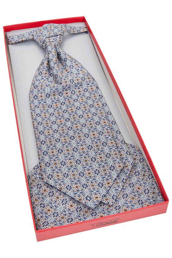Royal Steel Blue pattern Tie