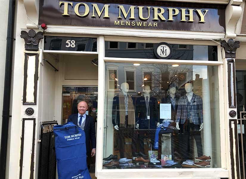Tom Murphy Menswear book appointment