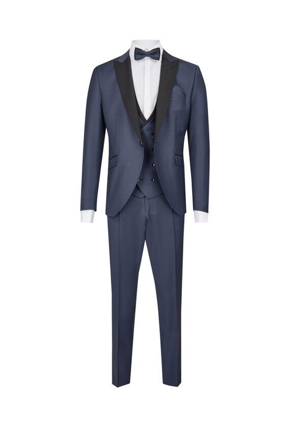 Blue Black Contrast Slim Fit Tuxedo