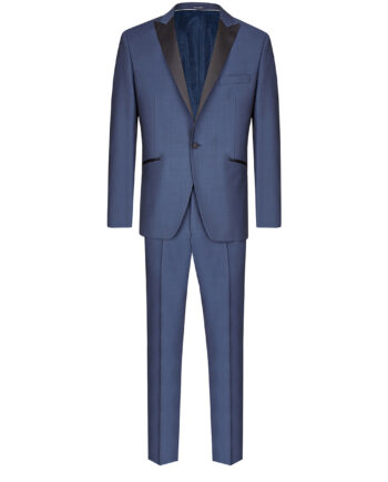 Blue Black Contrast Slim-fit Tuxedo