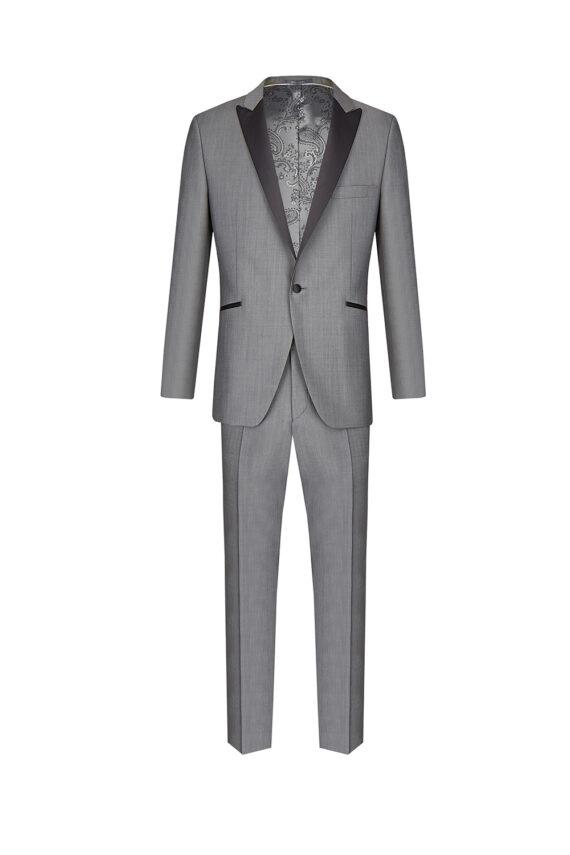 Grey Contrast Slim fit Tuxedo